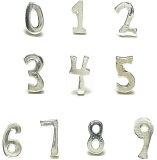 ★レビューを書いてメール便★【バラ売り】【シルバーピアス】シルバー925★ラッキーナンバーはどれですか?シルバーの数字スタッドピアス a442-a451【レディースピアス メンズピ
