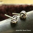 ショッピング毛糸 シルバーピアス 毛糸の玉のようにシルバー線がくるくる巻かれた不思議模様スタッドピアス(大) a382(a-14-10) シルバー925 silver925 シルバーアクセサリー スタッドピアス レディースピアス ツイストノットピアス