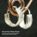 シルバーピアス 直径12mm 蛇の鱗 模様 甲丸線 フープピ...