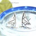 ショッピングサーフ シルバーピアス ウインドサーフィンかヨットか波の上で遊んでいるようなシンプルでかっこいい人間ピアス  シルバー925 silver925 シルバーアクセサリー 可愛い スタッドピアス レディースピアス