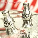 ショッピングcoca シルバーピアス Cocaの文字が入った瓶がカワイイ コーラCokeの空きビンのスタッドピアス シルバー925 silver925 シルバーアクセサリー スタッドピアス レディースピアス