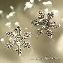 【シルバーピアス スノークリスタル】大きな雪印がキレイな雪の結晶ピアス 【スタッドピアス レディースピアス】【楽ギフ_包装選択】