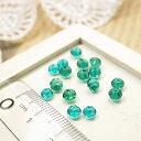 ショッピング販売 多面カットビーズ直径4mm エメラルドブルー 1gのグラム販売(約10個入り) ブルー系 青緑 ガラスビーズ チェコビーズ グラスビーズ アクセサリーパーツ 手作り ハンドメイド 材料