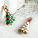 【卸売り】単価59.8円♪金属チャーム♪クリスマスツリー 1...
