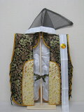 ◇新品◇龍柄の金襴織 陣羽織 (絹製)烏帽子 鉢巻付D◇五月人形◇祝着