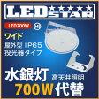 工場・倉庫 高天井照明 LED投光器 水銀灯700W相当 投光器タイプ 乳白ワイド 110度 ハイディスク200W 昼白色 屋外型
