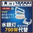 工場・倉庫 高天井照明 LED投光器 水銀灯700W相当 投光器 110度 ハイディスク140W 昼白色 屋外型