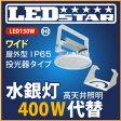 工場・倉庫 高天井照明 LED投光器 水銀灯400W相当 投光器タイプ 110度 ハイディスク150W 昼白色 屋外型
