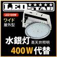 LED投光器・高天井照明 水銀灯300W相当 吊り下げタイプ 角度110度  昼白色  LED照明屋外屋内用