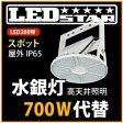 LED投光器・高天井照明 メタハラ400W相当 吊り下げタイプ 角度60度 昼白色  LED照明屋外屋内用 L200W-P-AS-50K