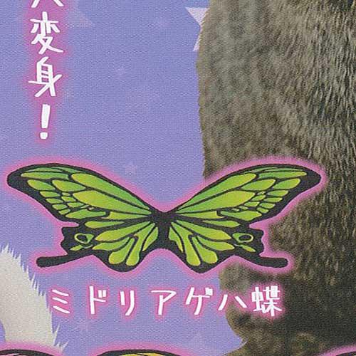 ねこのアゲハ蝶 3:ミドリアゲハ蝶 Qualia ガチャポン ガチャガチャ ガシャポン
