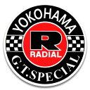 ステッカー / YOKOHAMA TIRE ヨコハマタイヤ G.T.SPECIAL アメリカン雑貨