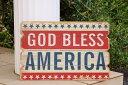 あす楽】レトロウッド 枯木調 看板 God Bless America ゴッド ブレス アメリカ 木製ボード レトロ調 アンティーク調アメリカン カントリー インテリア 雑貨 壁掛け も USA ウッド 欧米 オールドグローリー 米国 アメリカ