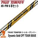 True Temper トゥルーテンパー Dynamic Gold CPT TOUR ISSUE #5〜PW 6本セット アイアンシャフト [リシャフト対応]