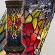ステンドグラス フロアスタンドライト/Stained glass FloorStand light ランプ 花 はな 華やか お部屋に、リビングに。 エレガント シック アンティーク インテリア 綺麗 ガラス ハンドメイド【送料無料】