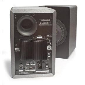 USBD/Aコンバーター搭載アンプ内蔵小型スピーカーシステムKEFX300A(税込・ペア価格)