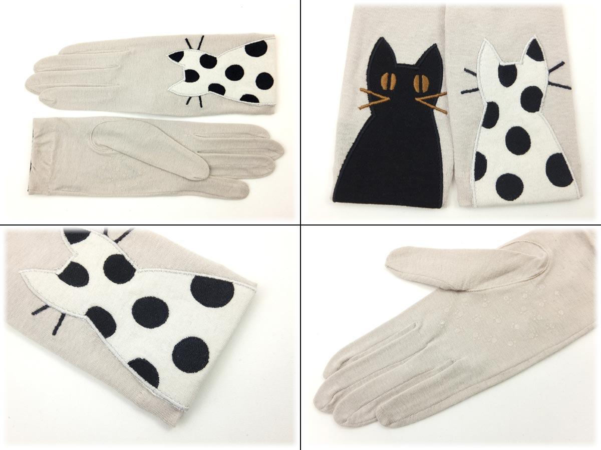 【今日は送料無料クーポン】夏手袋(仲良し猫)☆...の紹介画像2