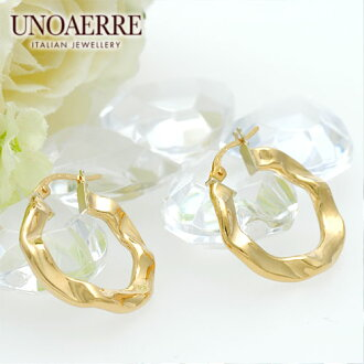 Unoaerre K18 yellow gold hoop earrings