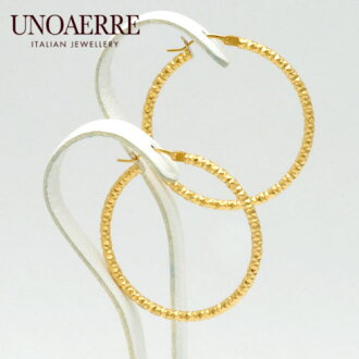 Unoaerre K18 yellow gold hoop earrings fs3gm