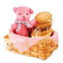 ステラおばさんのクッキー ホワイトデー 贈物 ひな祭り プチギフト ベアバスケット(ピンク) WBB-15(P) 【2P20Feb09】