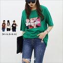 Aura アウラプリント 5半袖Tシャツ M L LL 3L 4L 5L 【大きいサイズM~5L】大きいサイズ レディース 大きいサイズTシャツ LLサイズ・3..