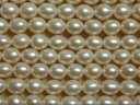 [HB001]【淡水パールセール】淡水パール天然色 ライス型 約5〜6mm ホワイト 1連(約38cm)