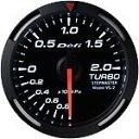 Defi Racer Gauge デフィ ホワイトレーサーゲージ ターボ計/ブースト計 60φ 白 ブーストメーター