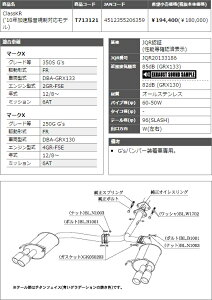 ���ܲ��ޥե顼ClassKR�ޡ���X350SG's(2WD)[GRX133]12/8��2GR-FSE('10��®�������б���ǥ�)