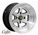 COLIN PROJECT 旧車ホイール ロンシャン XR4 ブラックポリッシュ 14×8.0J 4H PCD100 -0 4本購入で送料無料