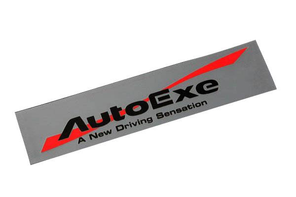 AutoExe オートエクゼ ウインドロゴステッカー ブラックロゴ
