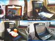車内でお使いください 収納式マルチファンクションテーブル 車載用折りたたみ簡易テーブル 車中泊車内でのお食事お仕事に最適