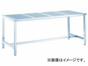 トラスコ中山/TRUSCO パンチングテーブルSUS304 1800×900 ヘアーライン PTH1890 【ながい】