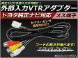 送料無料! AP 外部入力 VTRアダプター トヨタ純正ナビ対応 メス 0.5m/1.5m/3m