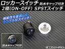 AP ロッカースイッチ 防水キャップ付き SPST ON-OFF 2極 12V 汎用 AP-EC030