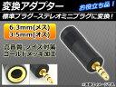 AP 変換アダプター 標準プラグ6.3mm(メス)-ステレオミニプラグ3.5mm(オス)に変換 お役立ち品 AP-TH397