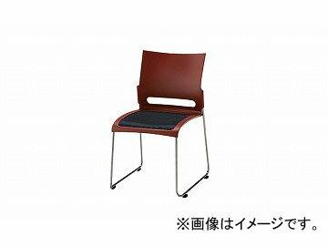 ナイキ/NAIKI 会議用チェアー スチールタイプ ブラウン E225-BR 505×545×800mm