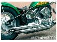 2輪 EASYRIDERS ストリングスラッシュマフラー スチール製 品番:4754 JAN:4548632163190 ヤマハ ドラッグスター400&クラシック400 FI車モデル 2010年〜