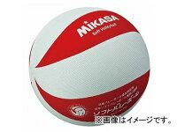 ミカサ/MIKASA カラーソフトバレーボール 円周78cm ホワイト/レッド MS-M78-WR JAN:4907225005253の画像
