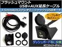 AP フラッシュマウントUSB+AUX延長ケーブル 約200cm 12V RCA(オス・音声L/R/映像)+USB 汎用 AP-EC023 入数:1セット(6点)