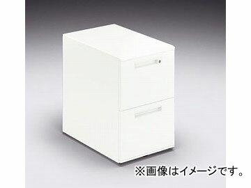 ナイキ/NAIKI リンカー/LINKER カスティーノ ワゴン 2段 クリアーホワイト CNKD046SYC-W 395×599×612mm