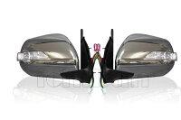 200系ハイエースLEDウインカー付電動式メッキドアミラー!