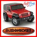 [USブッシュワーカー 直輸入正規品] Bushwacker ジープ JKラングラー 4ドアにのみ適合ポケットスタイル オーバーフェンダー フロントリアセット マットブラック