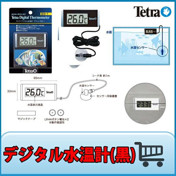テトラ デジタル水温計 ブラック BD-1『水温/湿度/室温計』