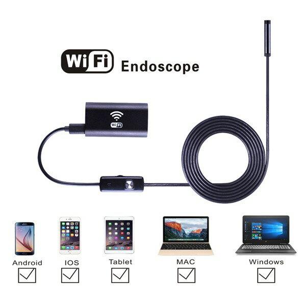 Wi-Fi 内視鏡 8mmレンズ6 LED USB防水 ボアスコープカメラ