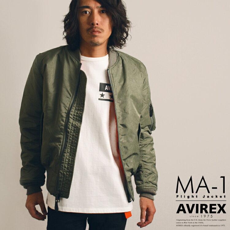 AVIREX 公式通販|今流行のエムエーワンが現在風シルエットにアップデートしたモデル登場!ボンバージャケットMA-1 COMMERCIAL(アビレックス/アヴィレックス)【送料無料】