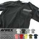 AVIREX 公式通販 アビの夏の定番ロングセラー!カラバリ豊富!半袖 胸ポケ ファティーグミリタリー VネックTシャツS/S …