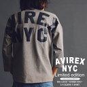 "AVIREX 公式通販・オンライン/DEPOT限定 | ビッグロゴ ""アヴィレックス"" 7分袖 Tシャツ ティーシャツBIG LOGO ""AVIREX NY【送料無料】"