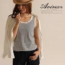 AVIREX/アビレックス オフィシャルサイトレディース ミリタリーファッション 女性 ノースリーブ 紺 赤 ボーダー マリン