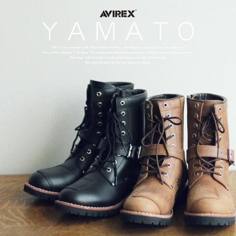 AVIREX 公式通販 | サイズ交換1回無料メンズ レディースヤマト サイドジップ バイカーブーツ エンジニアブーツ レザー 革靴YAMATO BAIKER BOOTS(アビレックス/アヴィレックス)【送料無料】
