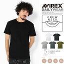 AVIREX 公式通販・DAILY WEAR | デイリー クルーネック 無地 リブ 半袖 TシャツS/S CREW NECK T-SHIRT(アビレックス/アヴィレックス)